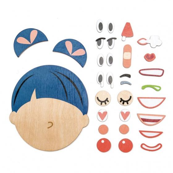 Tender Leaf Toys puzzel ''hoe gaat het?'' gezicht hout 32 delig