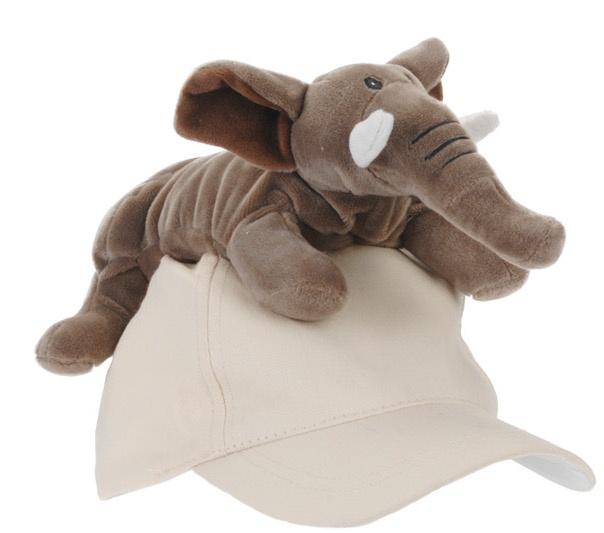 Tender Toys olifantenpet beige one size kopen