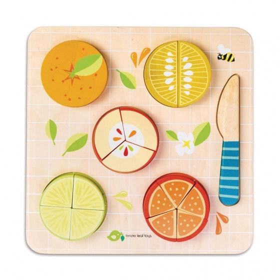 Tender Toys puzzel Citrus hout junior 22,5 x 22,5 x 2,1 cm