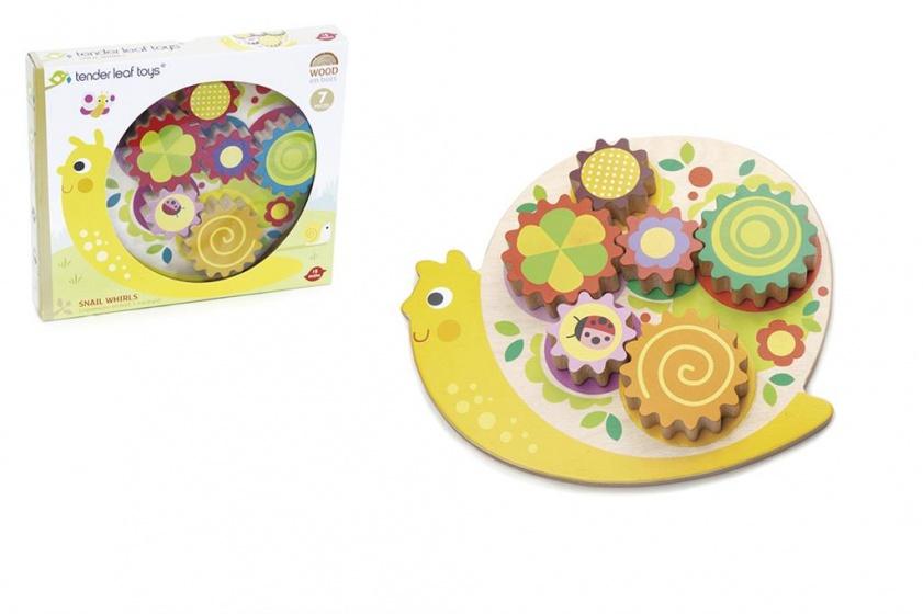 Tender Toys slakkenhuis tandwiel puzzel junior 7 delig