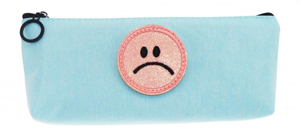Tesoro etui smiley blauw 21 cm kopen