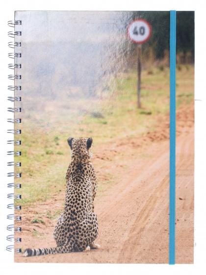 The Comedy Wildlife notitieboek A4 luipaard