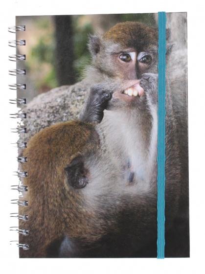 The Comedy Wildlife notitieboek A5 aap