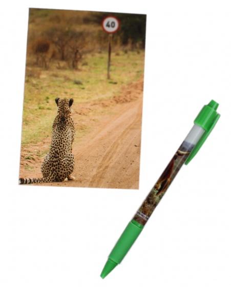 The Comedy Wildlife notitieboekje met pen luipaard 12 cm