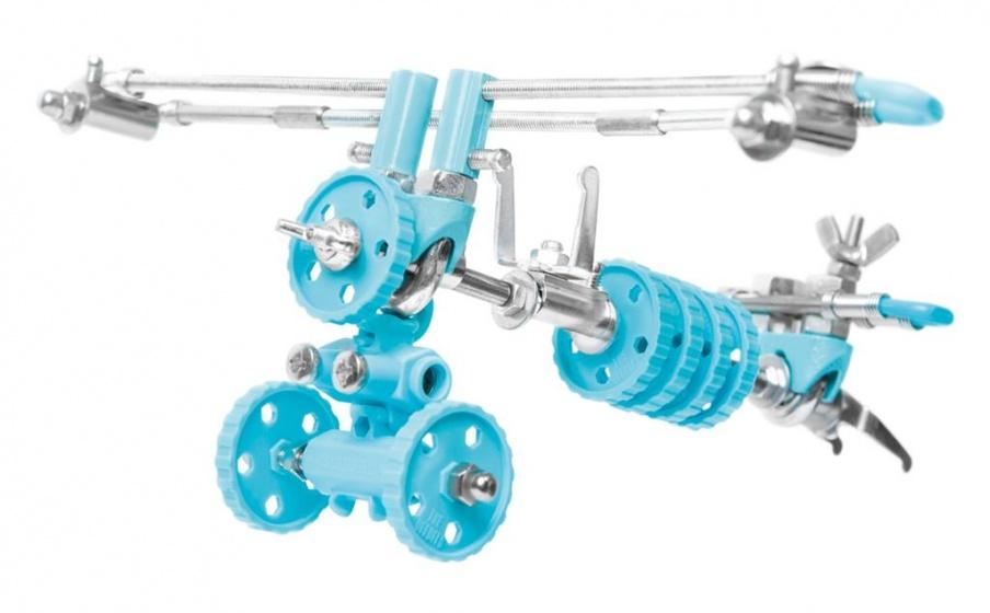 The Offbits bouwpakket Animal Kit Airbit 110 delig blauw