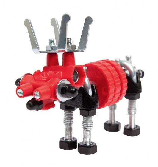 The Offbits bouwpakket Animal Kit Moosebit 22 delig rood