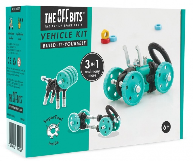 The Offbits bouwpakket Vehicle Kit 3 in 1 kit groen