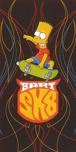 The Simpsons Badlaken SK8 70 X 140 cm