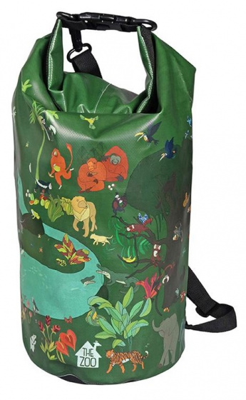 The Zoo zwemtas Tropical waterproof 47 x 18cm PVC-polyester groen
