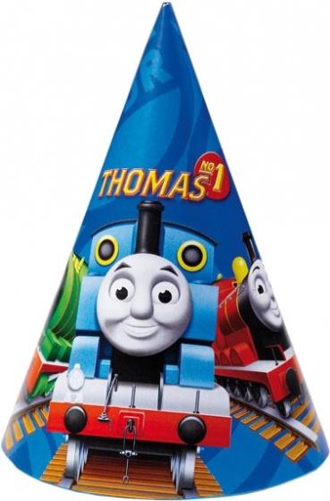 Thomas de Trein feesthoedjes blauw 6 stuks