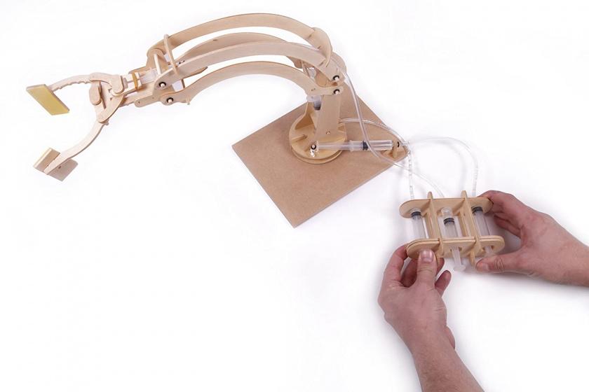 thumbsUp! zelfbouwkit Hydraulic Robotic Arm hout junior 3 delig