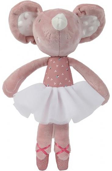 balletmuis knuffel roze 27 cm