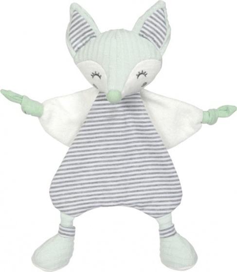 Tiamo knuffeldoekje Foxy Fox 29 cm mintgroen wit