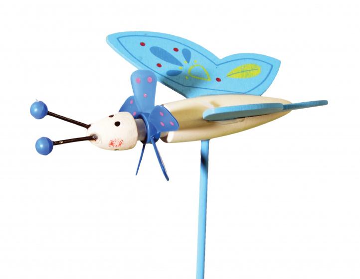 tib windmolen Butterfly Friends junior 27 cm hout blauw