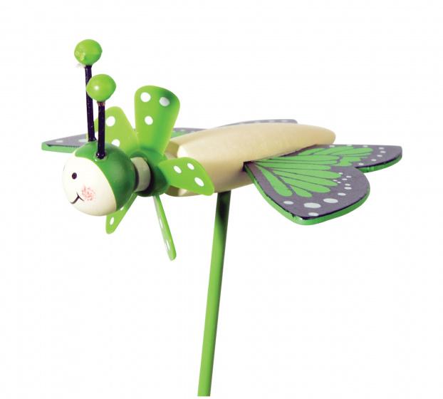 tib windmolen Butterfly Friends junior 27 cm hout groen