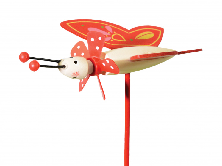 tib windmolen Butterfly Friends junior 27 cm hout rood