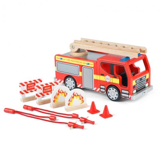 Tidlo Houten Brandweerwagen Set