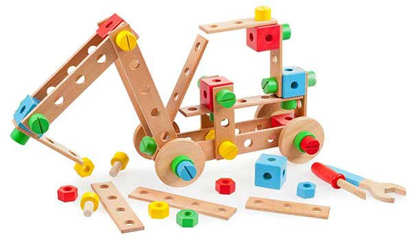 Tidlo construction set hout junior 91 delig