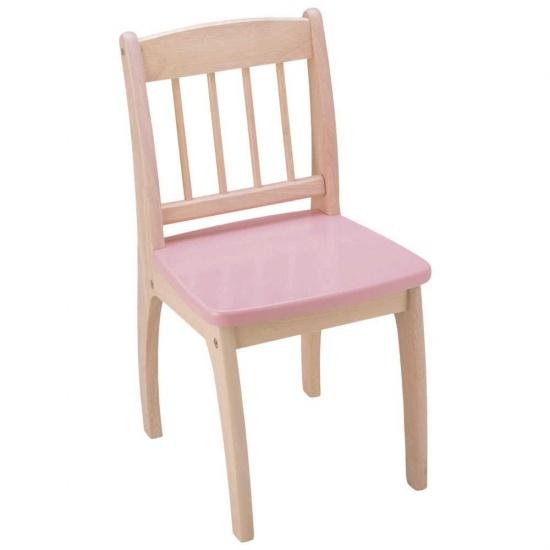 Tidlo Houten Kinderstoel 32 x 36 x 60 cm roze