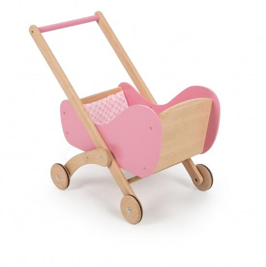 Tidlo Houten Kinderwagen 35 x 55 x 50 cm roze