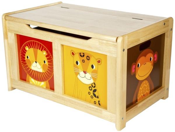 Tidlo houten speelgoedkist Jungle licht bruin 64 x 40 x 37 cm