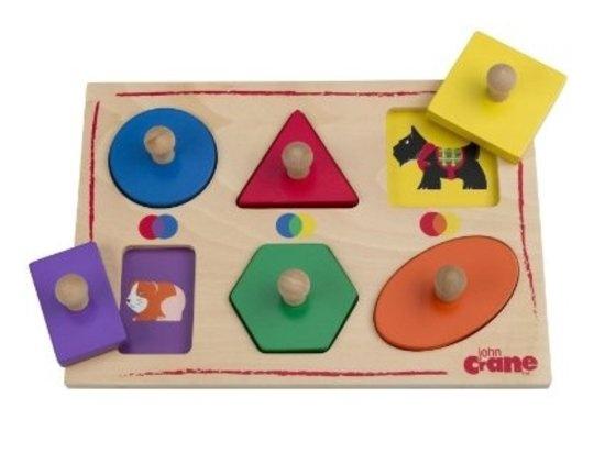 Tidlo Kleuren en Vormen Puzzel, 6 Stukjes