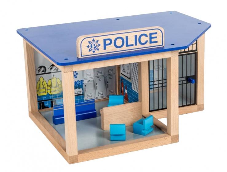 Tidlo Politiebureau hout 43,5 x 30 x 37 cm blauw