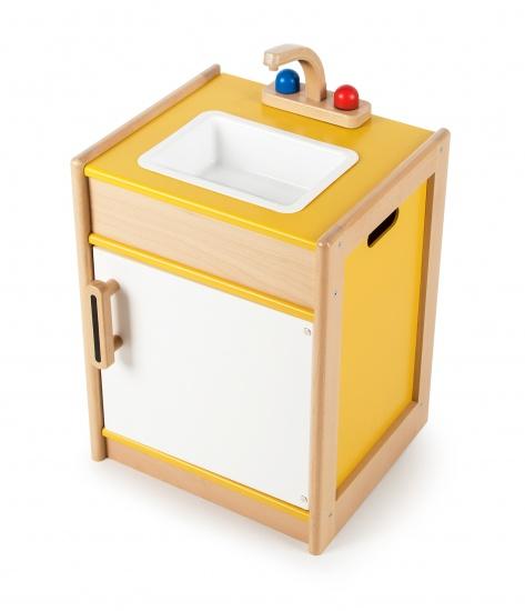 Tidlo Speelgoed Gasfornuis Rood 40 x 35 x 52 cm  Internet Toys # Wasbak Geel_212052