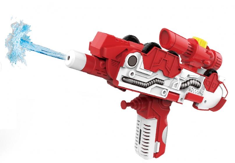 Toi Toys 2 in 1 waterpistool/brandweer jongens 35 cm rood/wit