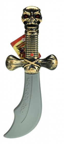 Adventures pirate sword silver/gold 22cm