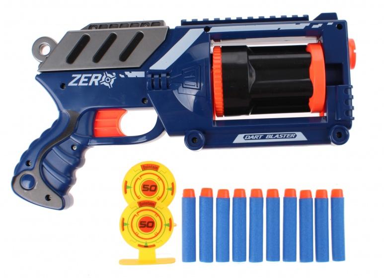 Toi Toys Air Blaster foamgeweer met kogels blauw 30 cm