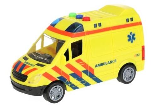 Toi Toys ambulance frictie met licht en geluid 15 cm