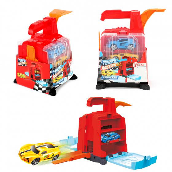 Toi Toys autoschieter Turbo Racers junior 16 cm rood 3 delig