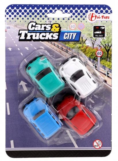 Toi Toys autoset 4 stuks