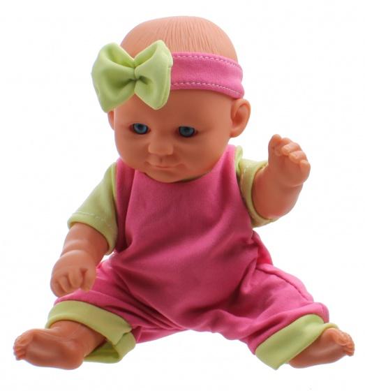 Toi Toys babypop met kledingset 20 cm roze/groen