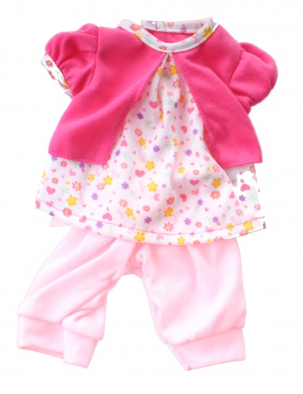 babypuppe Kleiderbox Anzug rosa 20-30 cm Toi-Toys