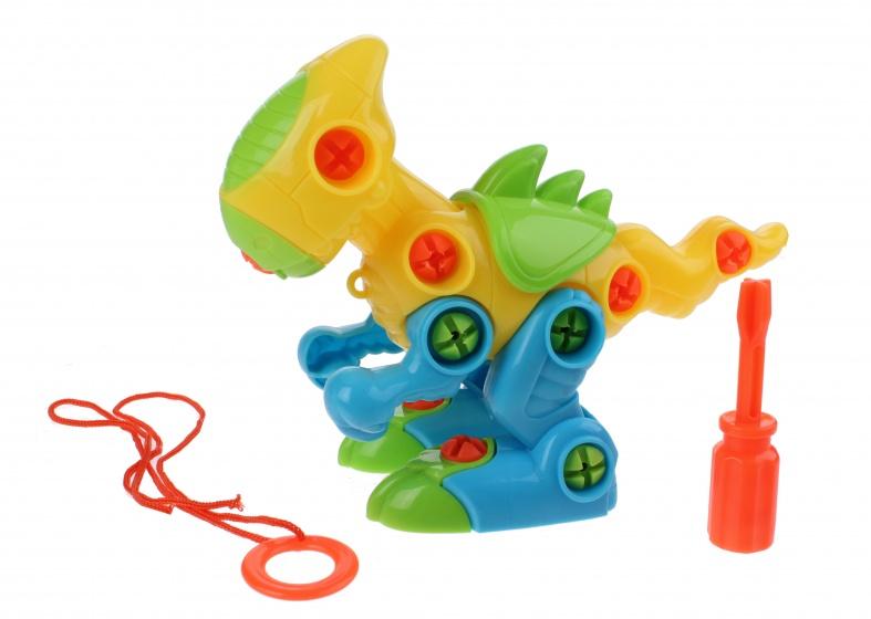 Toi Toys bouw je eigen dino 17 cm junior groen/geel/blauw