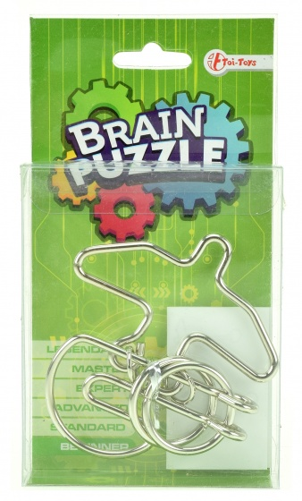 Toi Toys Brain Puzzle hersenkraker beginner zilver/groen