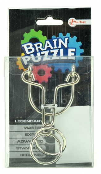 Toi Toys Brain Puzzle hersenkraker legendary zilver/zwart