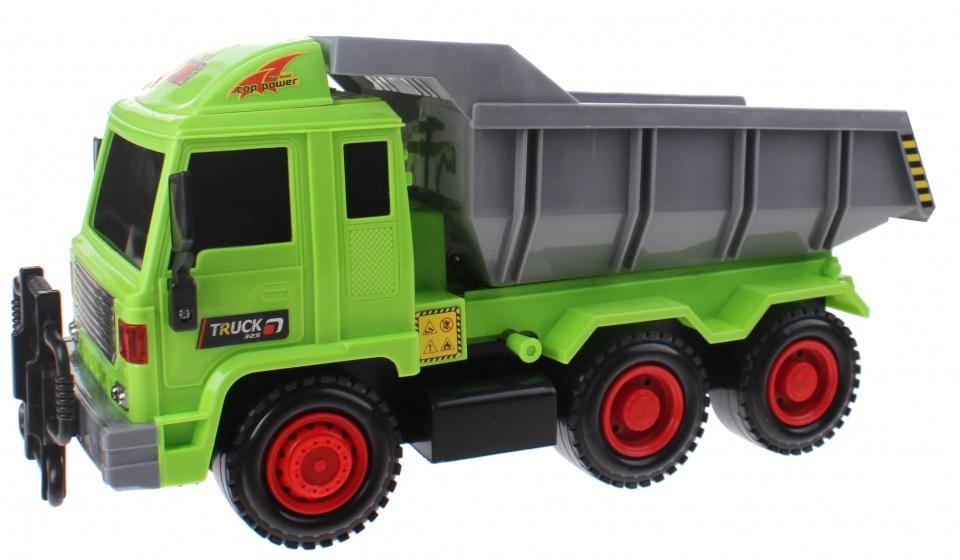 Toi Toys Construction Truck met kantelbak groen/grijs 42 cm