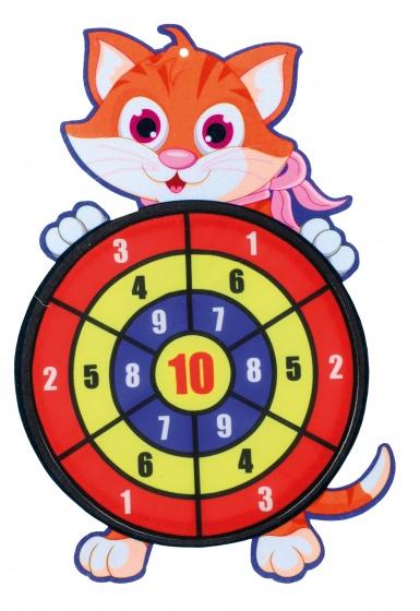 Toi Toys dartspel met ballen kat 34 cm