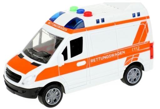 Toi Toys Duitse ambulance frictie met licht en geluid