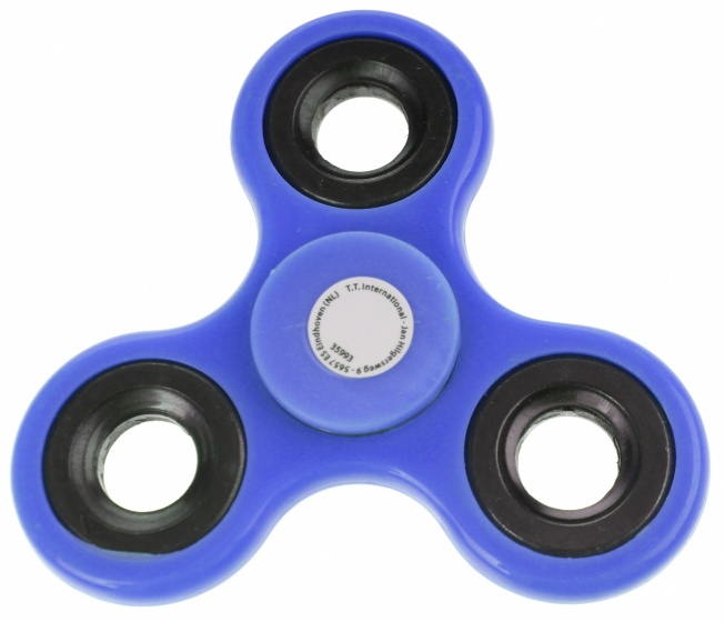 Toi Toys fidget spinner 3 poten blauw