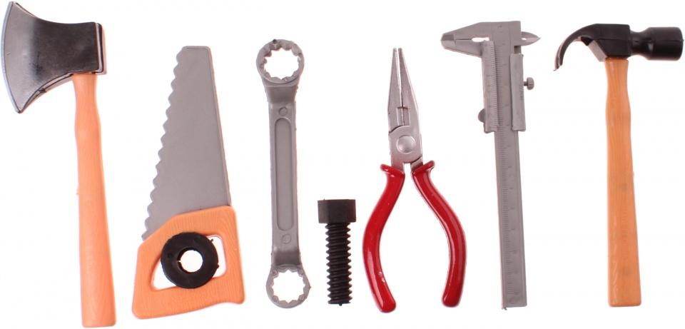 Toi Toys gereedschapsset Power Tools zaag en bijl 8 delig