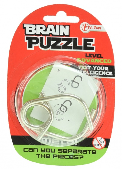 Toi Toys hersenkraker Brain Puzzle advanced zilver