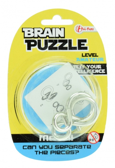 Toi Toys hersenkraker Brain Puzzle amateur zilver