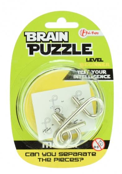 Toi Toys hersenkraker Brain Puzzle beginner zilver