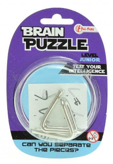Toi Toys hersenkraker Brain Puzzle junior zilver