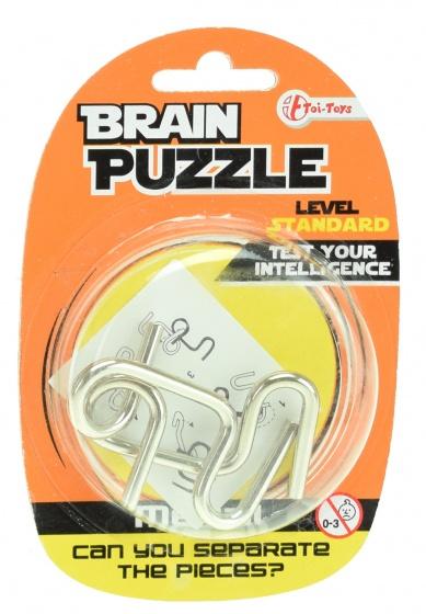 Toi Toys hersenkraker Brain Puzzle standard zilver