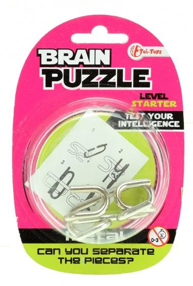 Toi Toys hersenkraker Brain Puzzle starter zilver